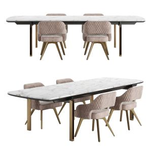 Cantori Mirage Rectangular Table With Adria Chair