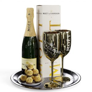 Champagne On A Tray Set 2
