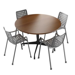 Vitra Landi Chair & Vitra Eames Segmented Tables D