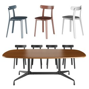 Vitra Apc Chair & Vitra Eames Segmented Tables Din