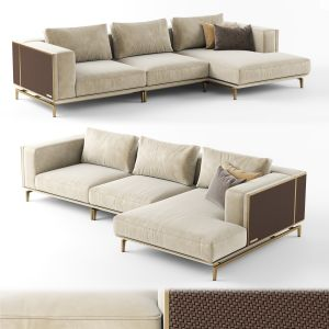 Visionnaire Backstage Sofa With Chaise Longue