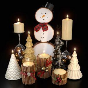 Christmas Set Of Candles