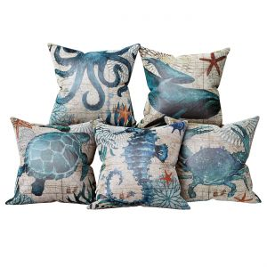 Set Of Decorative Pillows In A Marine Style 3