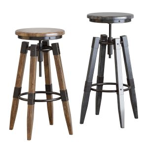By-lyj Bar Stool Industrial Vintage Metal