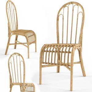 Dining Chair In Rattan