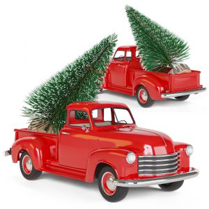 Christmas Chevrolet 1950 Pickup 3100 Truck Red Mod