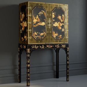 BAKER George III Oriental Lacquer Cabinet