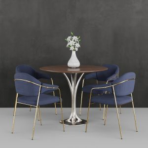 Contemporary Chair & Table Set