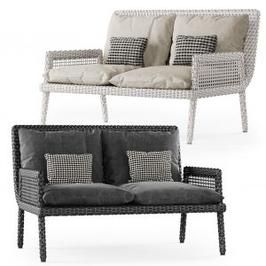 Rattan Two-seater Sofa Dr52