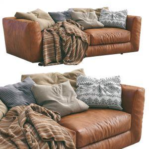 Ferlea Leather Sofa H01