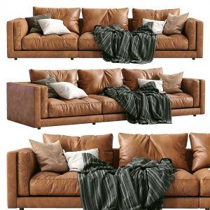 Flexform Leather Sofa Lucien